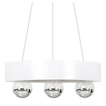 MORTEN 3 WHITE 222/2 nowoczesna lampa wisząca regulowana biała dodatki chrom