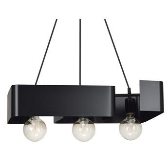 KOMA 3 BLACK 630/3 czarna lampa wisząca dużo światła nowoczesne wzornictwo