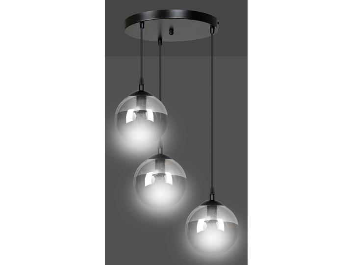 COSMO 3 BL GRAFIT PREMIUM lampa wisząca klosze kule regulowana nowoczesna Lampa z kloszem Szkło Lampa LED Metal Styl Klasyczny