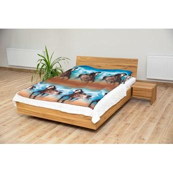 zestaw: BALLEGA_D, rozmiar 140x200 cm, jako łoże z prawdziwego LITEGO DĘBA z szafkami nocnymi