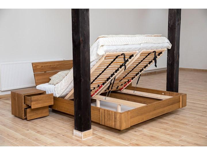 Zestaw: Beriet łóżko+2 szafki nocne  z drewna bukowego lewitujące 160x200 cm Kategoria Zestawy mebli do sypialni