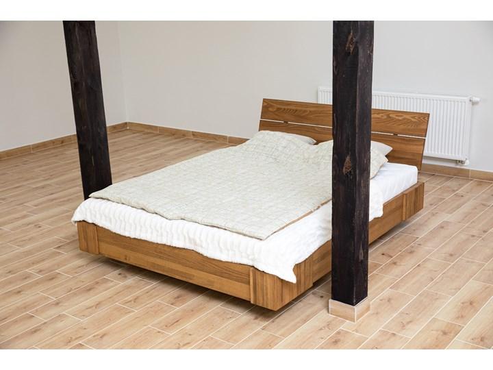Beriet łóżko z drewna bukowego lewitujące 140x200 cm, wybarwienie orzech (OR) Łóżko drewniane Rozmiar materaca 140x210 cm