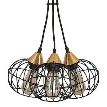 LATARNIA 3 BLACK 375/3 druciak lampa wisząca miedziane elementy regulowana wysokość