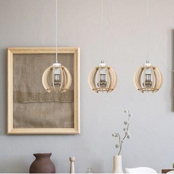 DILMA 3 NATURAL 398/3 lampa wisząca w stylu skandynawskim regulowana drewno