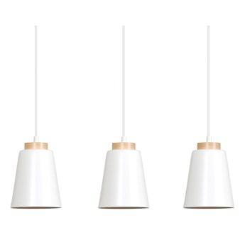 BOLERO 3 WHITE 443/3 wisząca lampa styl skandynawski drewno biała