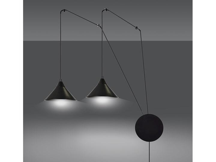 ABRAMO 2 BLACK 160/2 lampa sufitowa wisząca regulowana najnowszy design czarna loft Lampa LED Lampa z kloszem Metal Stal Styl Industrialny