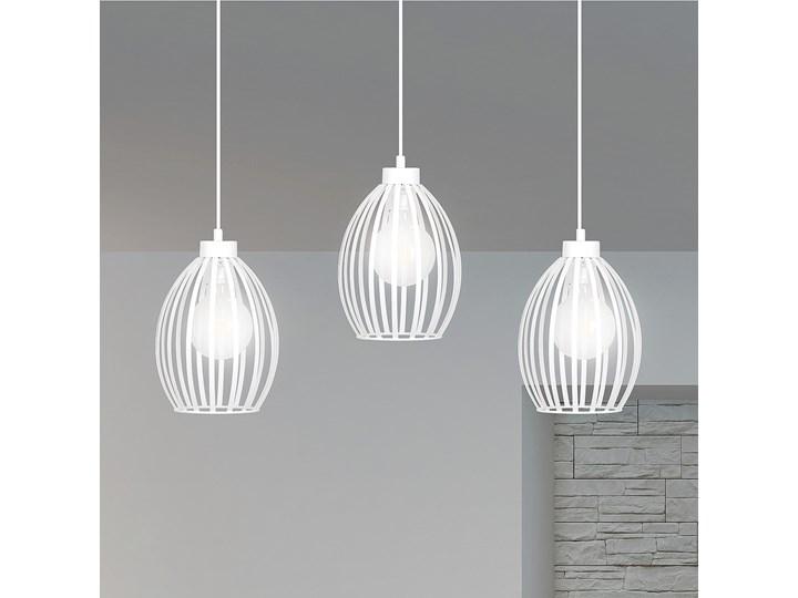 BORIS 3 WHITE PREMIUM 155/3PREM lampa wisząca regulowana biała loft Lampa LED Lampa z kloszem Metal Styl Nowoczesny