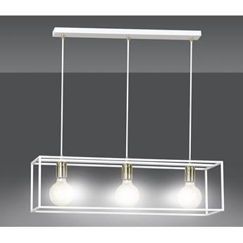 KARMEN 3 WHITE 809/3 wisząca lampa sufitowa LOFT regulowana metalowa złoto biała