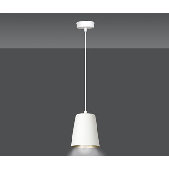 MILGA 1 WHITE-GOLD 414/1 nowoczesna lampa wisząca biała środek złoty