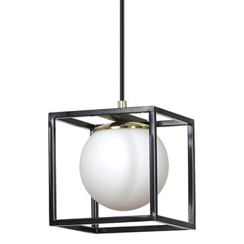 SPAZIO 1 BLACK 687/1 lampa wisząca loft kwadraty szklany klosz design