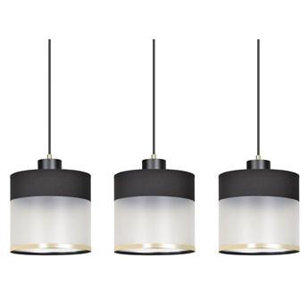 MUTO 3 BLACK lampa wisząca sufitowa eleganckie abażury regulowana wysokość