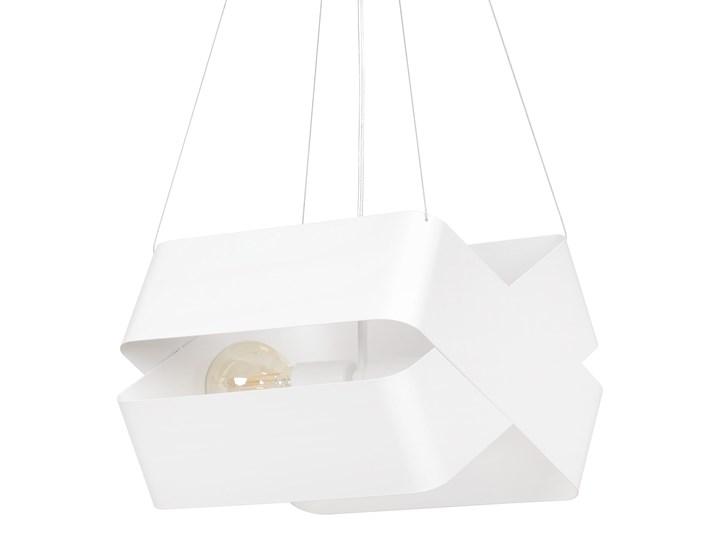 DELTA WHITE 445/2 oryginalna lampa wisząca biała LOFT regulowana metalowa DESIGN Lampa z kloszem Lampa LED Styl Nowoczesny