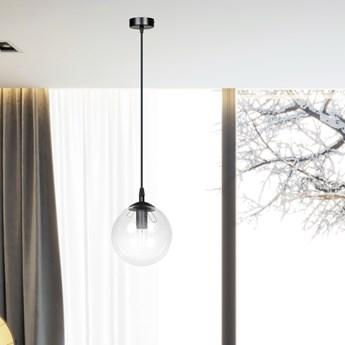 COSMO 1 BL TRANSPARENT lampa wisząca szklany klosz kula zwis nowoczesny