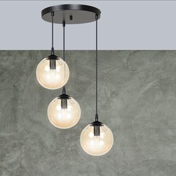 COSMO 3 BL MIODOWA PREMIUM 713/3PREM lampa wisząca klosze kule nowoczesna