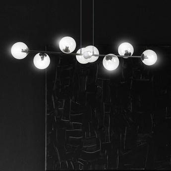 ROSSI 8 BL TRANSPARENT 874/8 lampa sufitowa wisząca czarna transparentne klosze