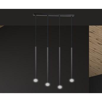 SELTER 4 BLACK 552/4 designerski spot wiszący halogen punktowy tuby czarne długie