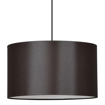 ROTO 1 BROWN 190/1 lampa wisząca regulowana duży abażur brązowy środek biały