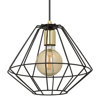 ALTEO 1 BLACK 142/1 wisząca lampa sufitowa LOFT regulowana czarna złote elementy