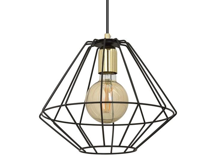 ALTEO 1 BLACK 142/1 wisząca lampa sufitowa LOFT regulowana czarna złote elementy Metal Lampa LED Lampa z kloszem Kategoria Lampy wiszące