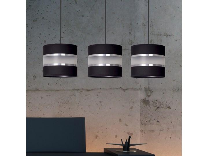 LARO 3 BLACK lampa wisząca abażury regulowana wysokość nowoczesna Kolor Czarny Metal Lampa z abażurem Styl Klasyczny