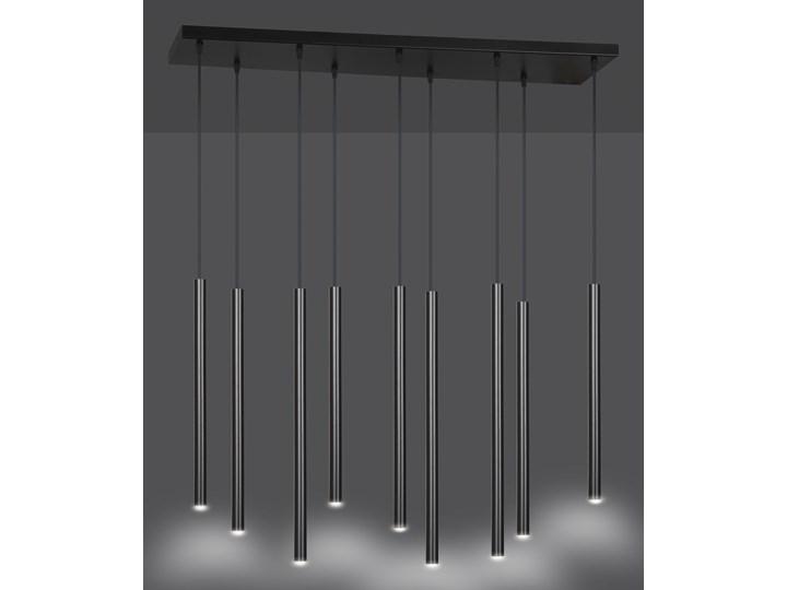 SELTER 9 BLACK 552/9 designerski spot wiszący halogen punktowy tuby czarne długie Metal Lampa LED Kategoria Lampy wiszące Ilość źródeł światła 9 źródeł