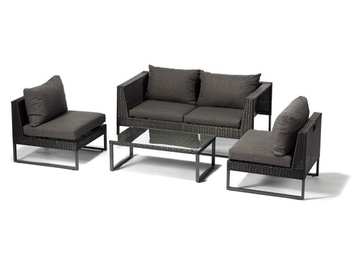 Szary zestaw mebli ogrodowych ze sztucznego rattanu Le Bonom Diamond Zestawy wypoczynkowe Zawartość zestawu Fotele