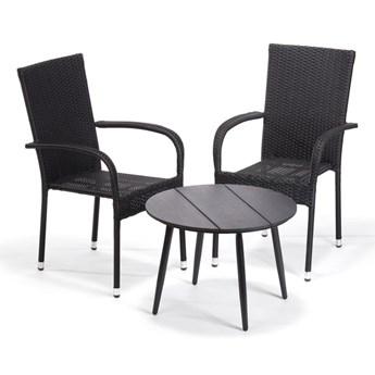 Szary stół ogrodowy Le Bonom Lounge, ø 51 cm