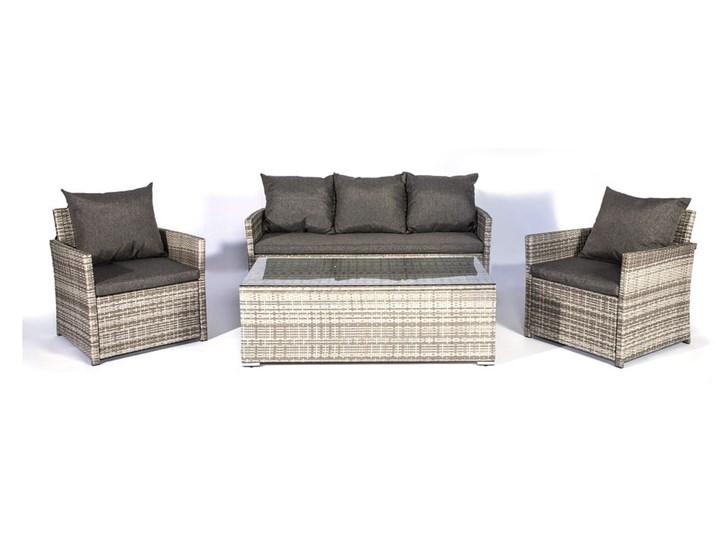 Zestaw czarnych mebli ogrodowych Le Bonom Dion Rattan Aluminium Zawartość zestawu Fotele Tworzywo sztuczne Zestawy wypoczynkowe Zawartość zestawu Sofa