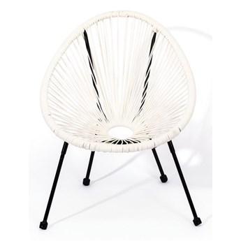 Białe wiklinowe krzesełko dla dzieci Le Bonom Avocado,50,5x62x55,5cm