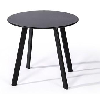 Czarny stół ogrodowy Le Bonom Full Steel, ø 50 cm
