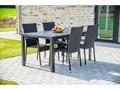 Zestaw szarych mebli ogrodowych Le Bonom Viking L Rattan Stal Zawartość zestawu Krzesła Stoły z krzesłami Aluminium Kategoria Zestawy mebli ogrodowych