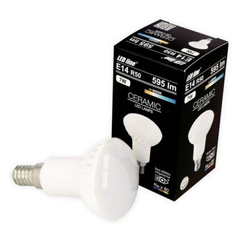 Żarówka LED line E14 SMD 170-250V 7W 595lm 2700K R50 biała ciepła