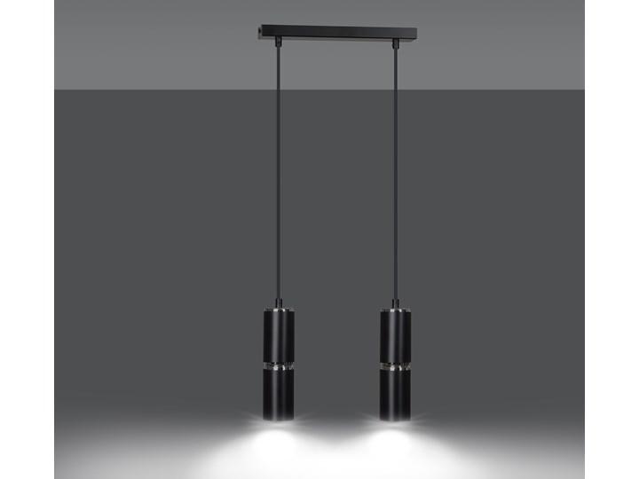 MODESTO 2 BLACK 168/2 nowoczesna lampa czarne tuby chrom dodatki LED