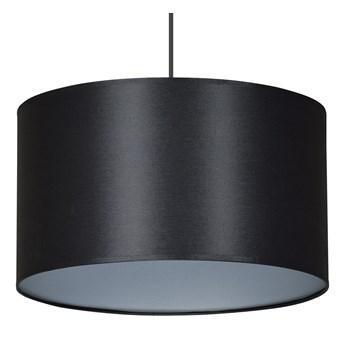 ROTO 1 SILVER lampa wisząca sufitowa czarny duży abażur srebrny środek regulowana