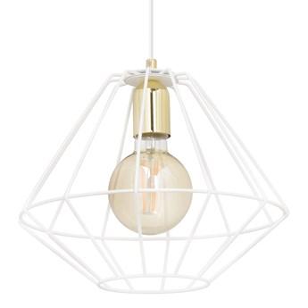 ALTEO 1 WHITE 143/1 wisząca lampa sufitowa LOFT regulowana biała złote elementy