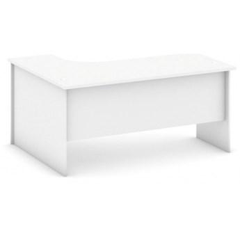 Biurko ergonomiczne prawe, biały
