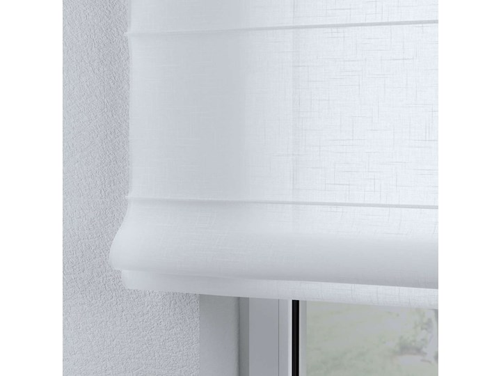Roleta rzymska Billie, prześwitująca, biała, szer.100 × dł.170 cm, Sweet Secret Kolor Biały Wzór Dla dzieci