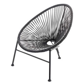 Fotel Retro Black, 57x63x62 cm