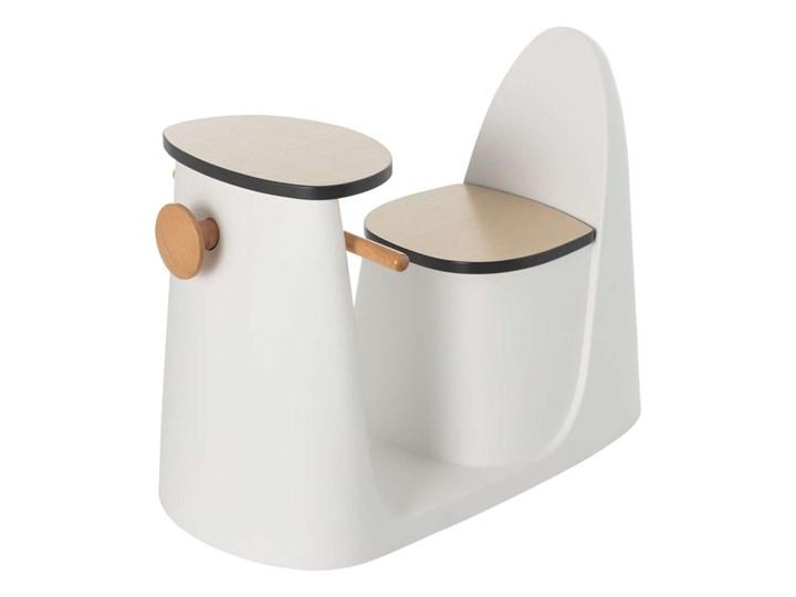 Krzesełko ze stolikiem 2w1 Vespo white, 40x75x59cm Drewno Metal Kolor Biały
