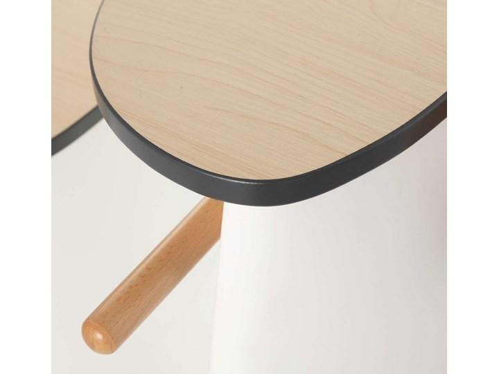 Krzesełko ze stolikiem 2w1 Vespo white, 40x75x59cm Drewno Kategoria Pozostałe meble do przedpokoju Metal Kolor Biały