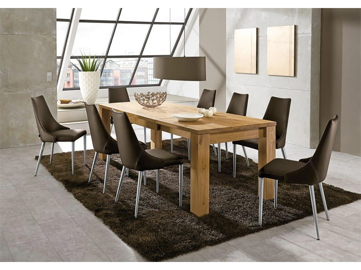 Stół dębowy rozkładany Blox Soolido Meble Kamień Metal Drewno Ceramika Wysokość 78 cm Kategoria Stoły kuchenne