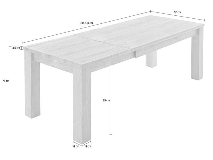 Stół dębowy rozkładany Blox Soolido Meble Kamień Wysokość 78 cm Kolor Brązowy Metal Ceramika Drewno Pomieszczenie Stoły do jadalni