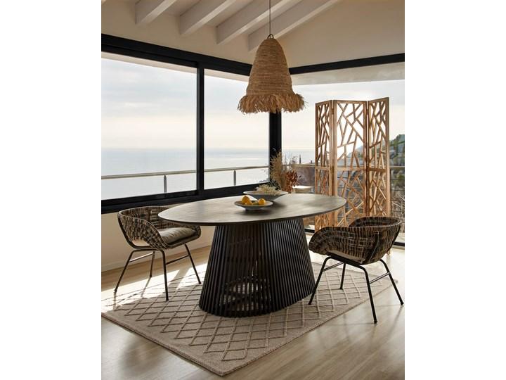 Fotel Lin 66x69 cm naturalno-czarny Styl Rustykalny Metal Głębokość 66 cm Wysokość 66 cm Rattan Kategoria Fotele do salonu