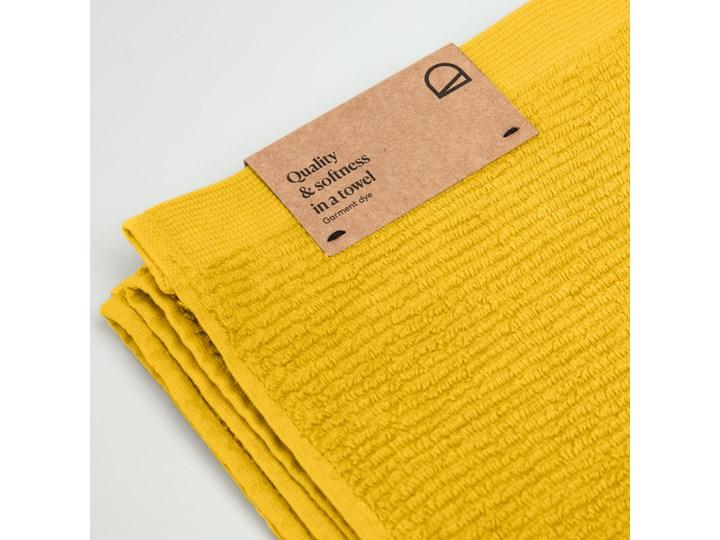 Ręcznik łazienkowy Miekki 100x50 cm musztardowy Ręcznik kąpielowy 40x70 cm Komplet ręczników Bawełna Kategoria Ręczniki 50x100 cm Kolor Żółty