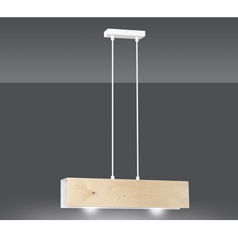 CARLO 2 WHITE 611/2 oryginalna lampa wisząca czarna styl skandynawski