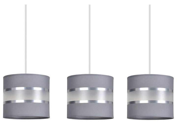 LARO 3 GRAY lampa wisząca abażury regulowana wysokość nowoczesna Lampa LED Metal Lampa z abażurem Kolor Szary