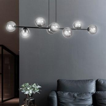 ROSSI 8 BL GRAFIT 875/8 lampa sufitowa wisząca czarna szklane klosze DESIGN