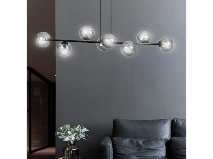 ROSSI 8 BL GRAFIT 875/8 lampa sufitowa wisząca czarna szklane klosze DESIGN Metal Lampa LED Kategoria Lampy wiszące Lampa z kloszem Szkło Styl Klasyczny