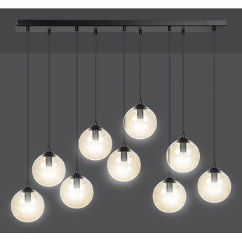 COSMO 9 BL MIODOWY 713/9 lampa wisząca klosze kule regulowana nowoczesna