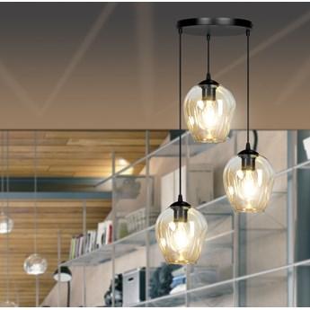 ISTAR 3 BL PREMIUM MIODOWA lampa wisząca żyrandol nowoczesny klosze NOWOŚĆ